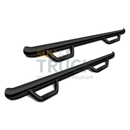 Пороги труба (со ступенями) Chevy-GMC 1500 Crew Cab 5.75' Short Bed 14-16